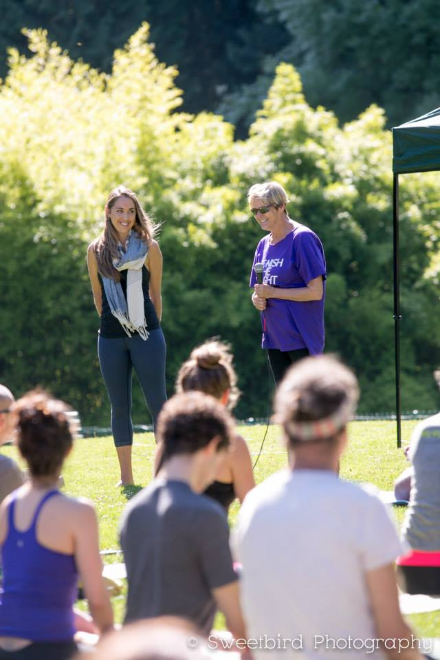 Kim, a yoga student in one of DAYA's outreach programs, speaks about her experience with adaptive yoga and doing yoga on the mat for the first time at Yoga Rocks the Park.