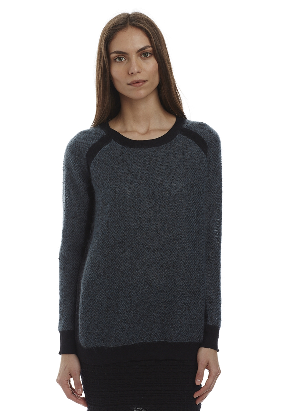 Melange Crew Mock Neck . Was $358, now $107.40.
