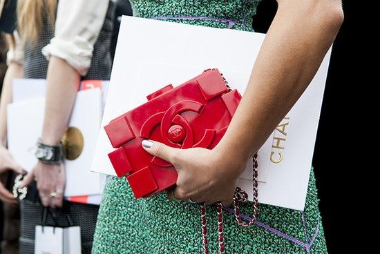 Pic courtesy of  The Handbag Concept . Click on the picture to check out their article all about Chanel's lego clutch!