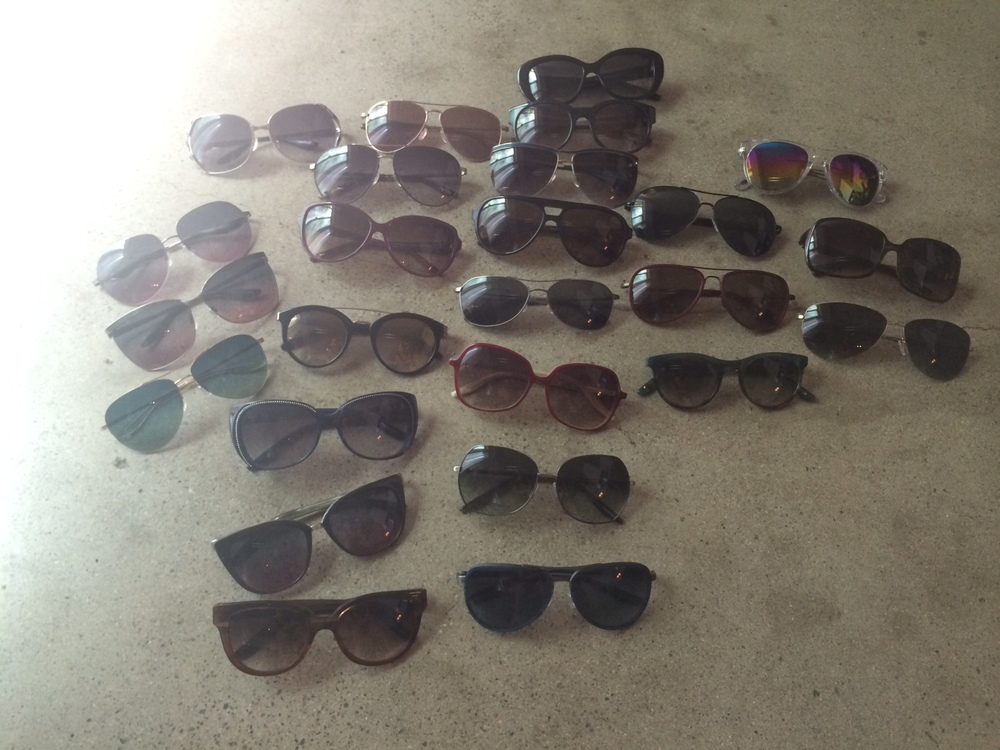 Looking for ideas on how to display or store a (quickly-growing) sunglass collection. If you have tips, email me!