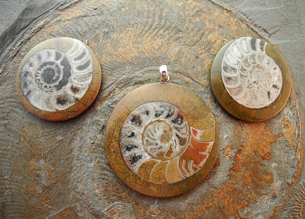 Ammonit Marokko Anhänger
