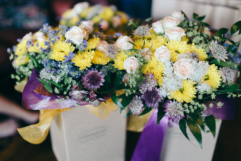 The Flower Bouquet for the Bride King Francis Park Forest Wedding Ceremony Vancouver Island