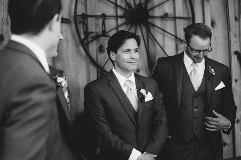 The Groomsmen King Francis Park Forest Wedding Ceremony Vancouver Island