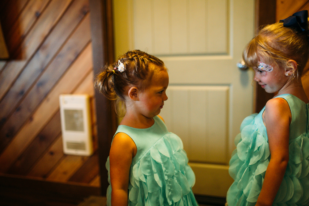 Flower girls for wedding Clear Lake Manitoba wedding ceremony