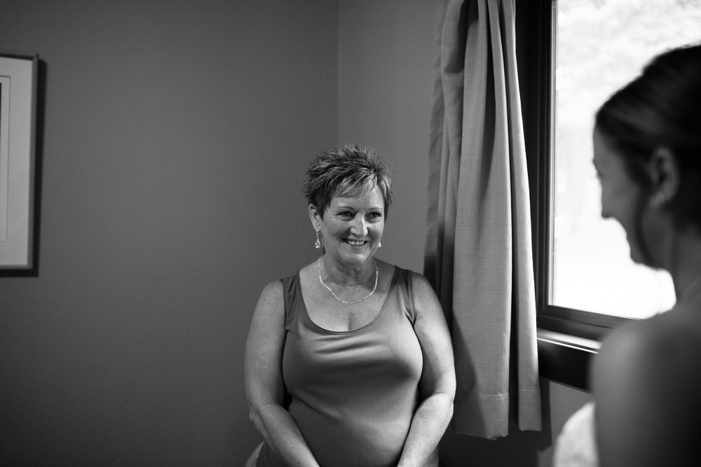 Bride's mother Clear Lake Manitoba wedding
