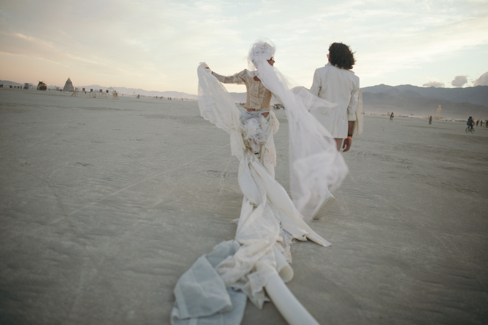 Adventure wedding photographer - Burning Man weddings