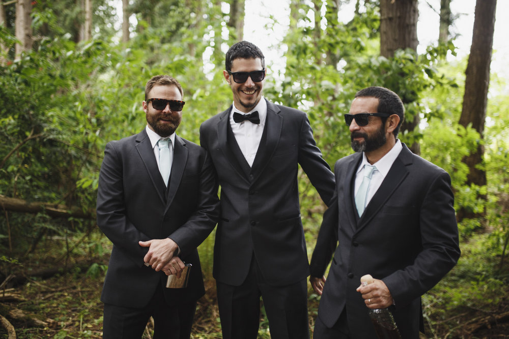 Groomsmen Forest wedding Tofino Sea Cider Vancouver Island