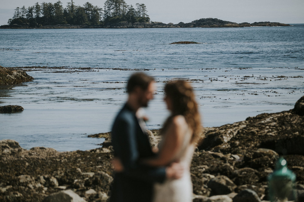 intimate beach wedding seashell beach wickaninnish inn