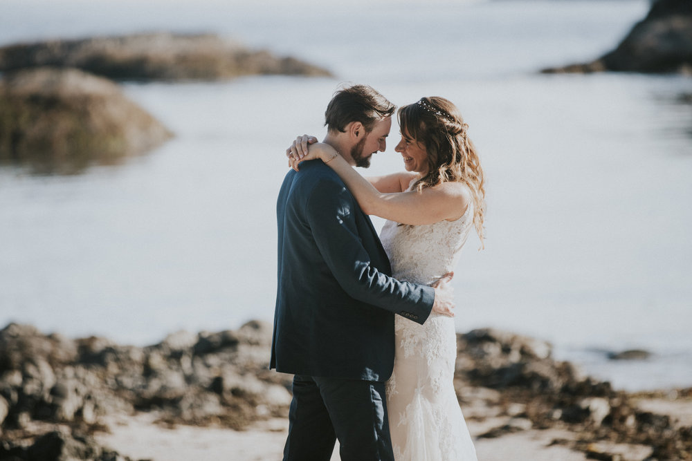 intimate tofino beach wedding