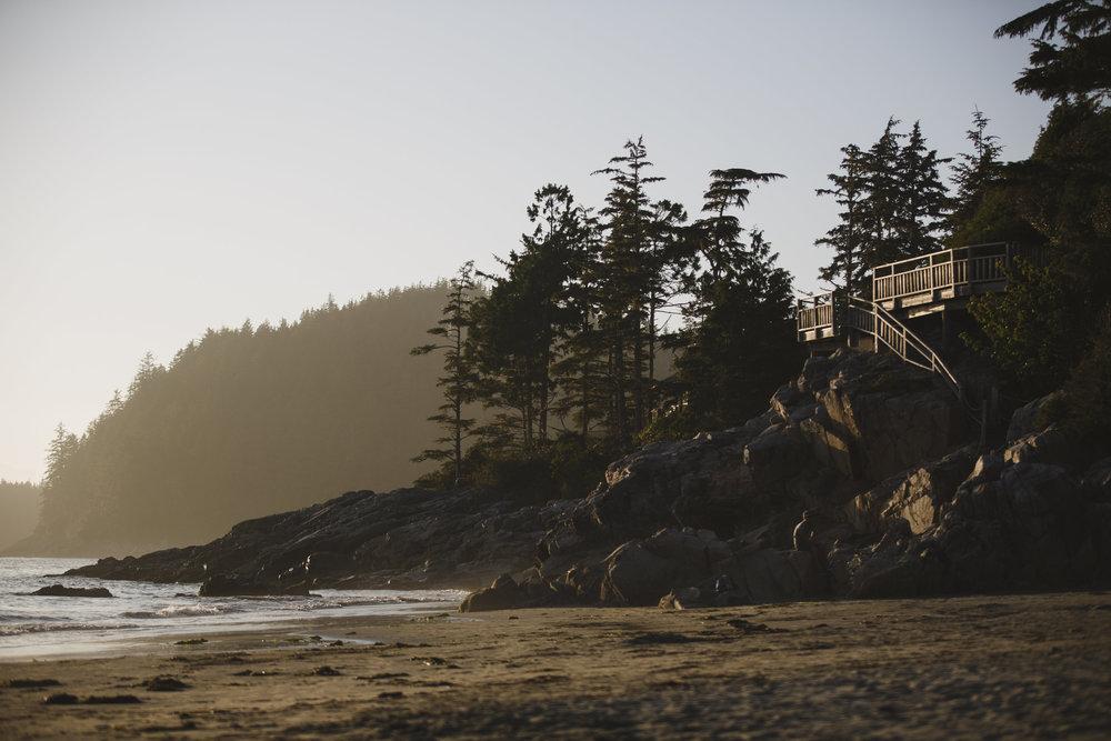 tofino beach at sunset