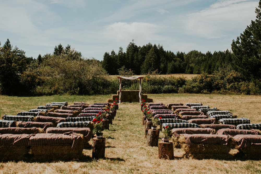intimate farm wedding - vancouver island- ceremony
