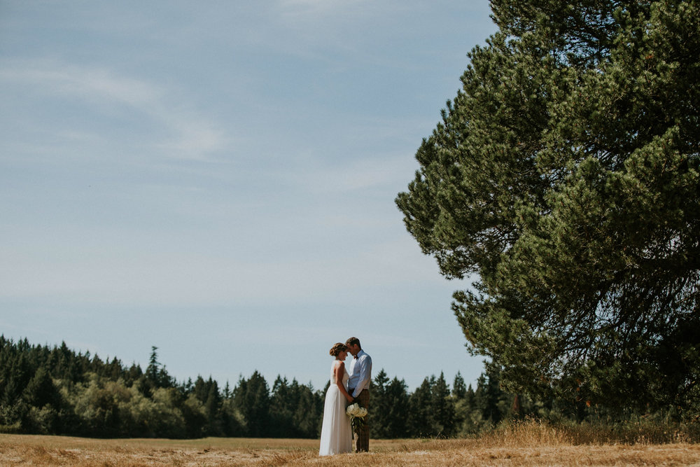 Bride and Groom Forest wedding King Francis Park Vancouver Island