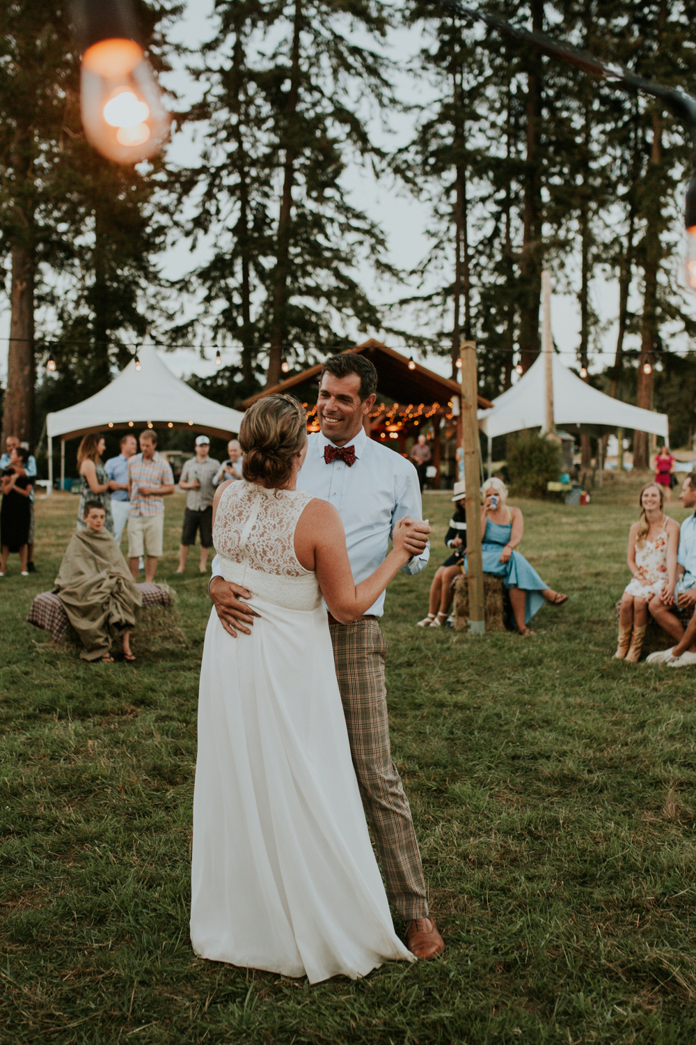 intimate farm wedding - vancouver island- reception