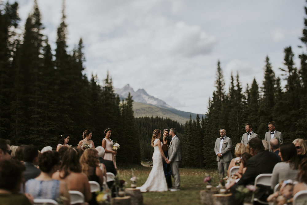 mt norquay wedding couple ceremony