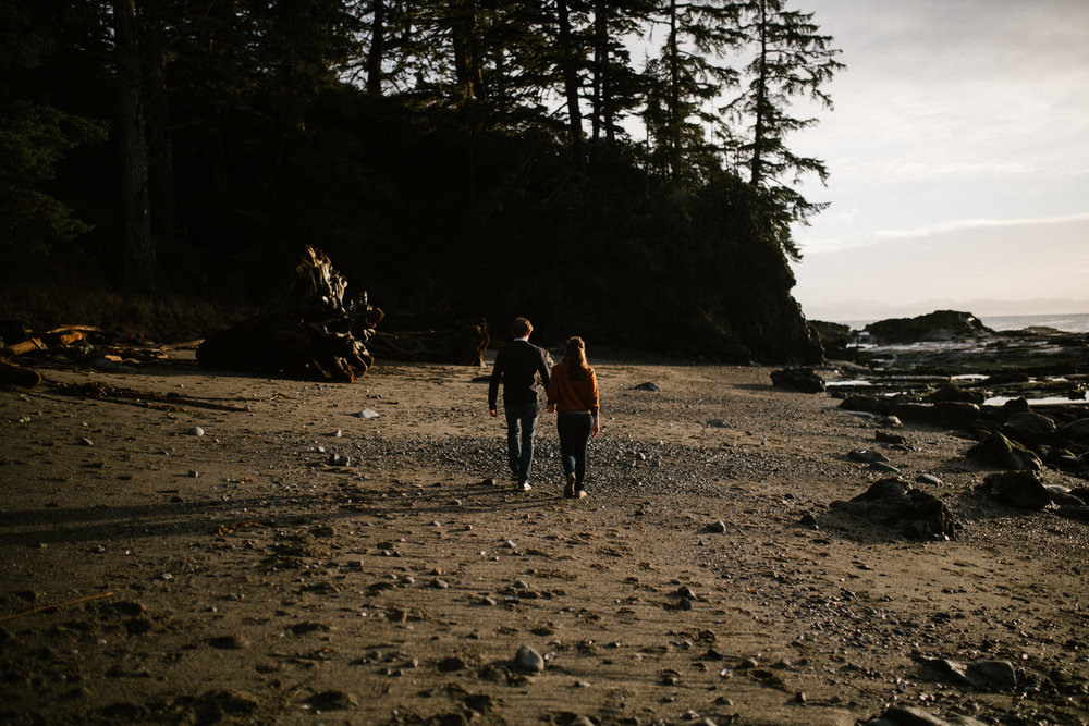 adventure engagement - botanical beach - vancouver island