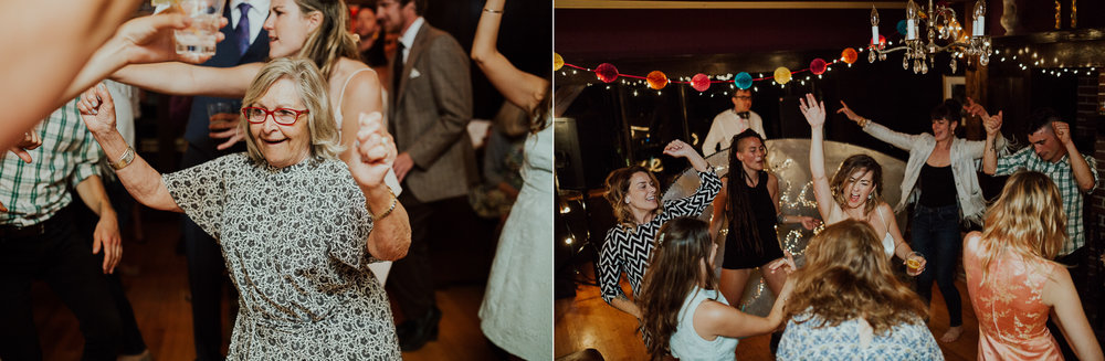 guests dance at wedding in victoria