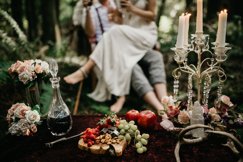 A fairytale like table in the forest Engagement Victoria