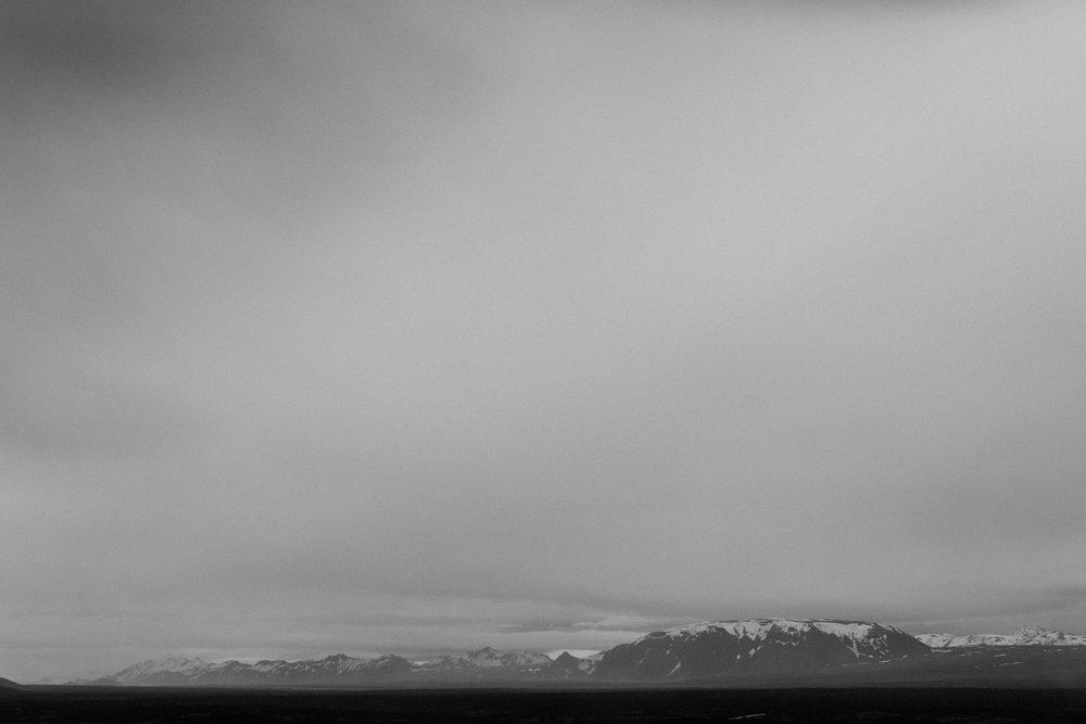 iceland mountains in fog