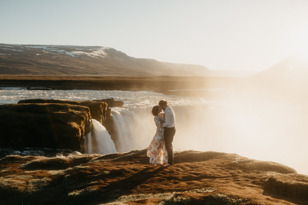 couple godafoss iceland elopement
