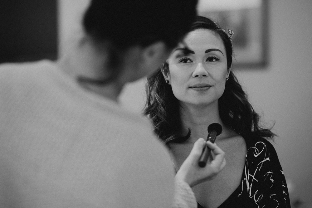 Make-up preparations Galiano Island Wedding photographer