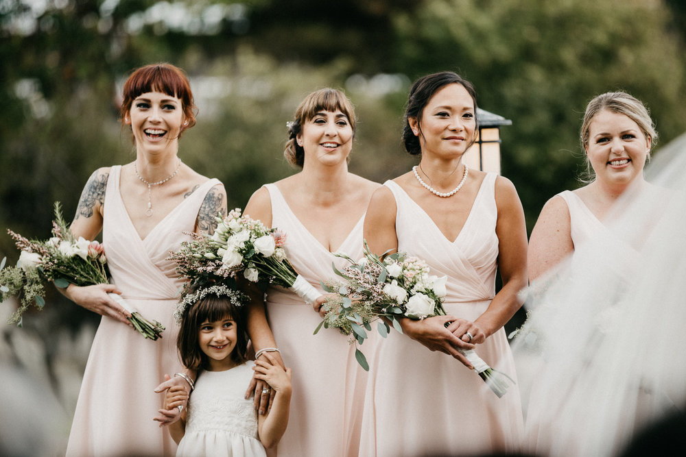 Bridesmaids Galiano Inn Wedding photographer