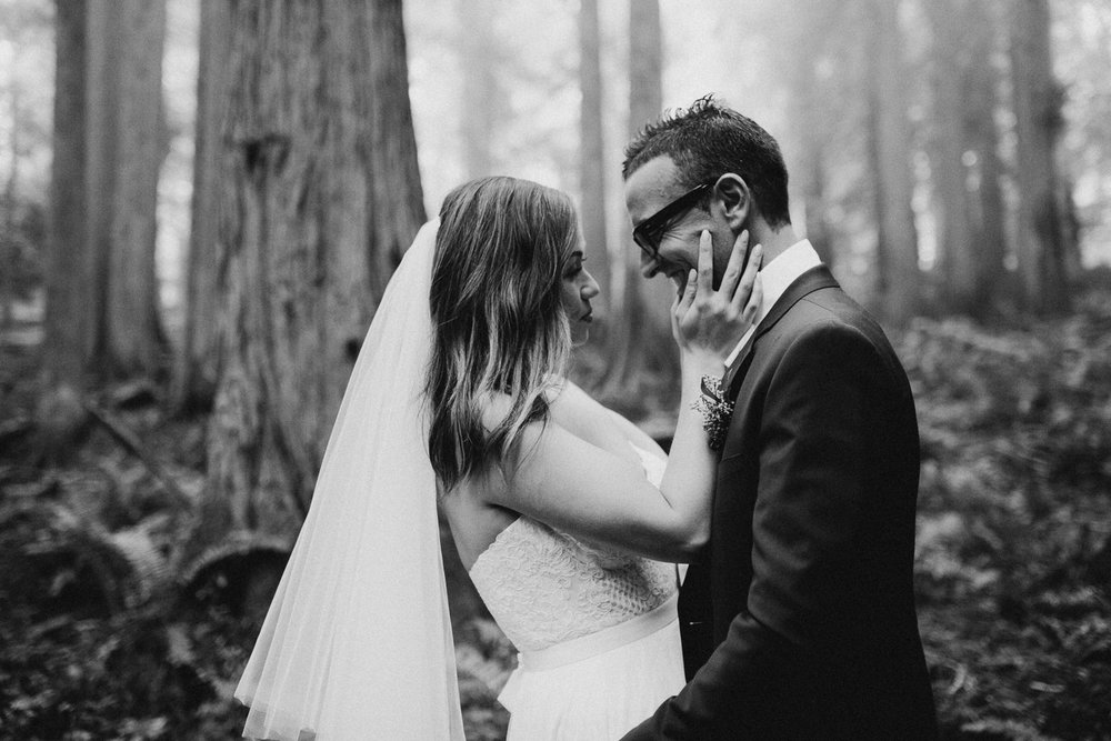 Newly wed couple Galiano Island Wedding