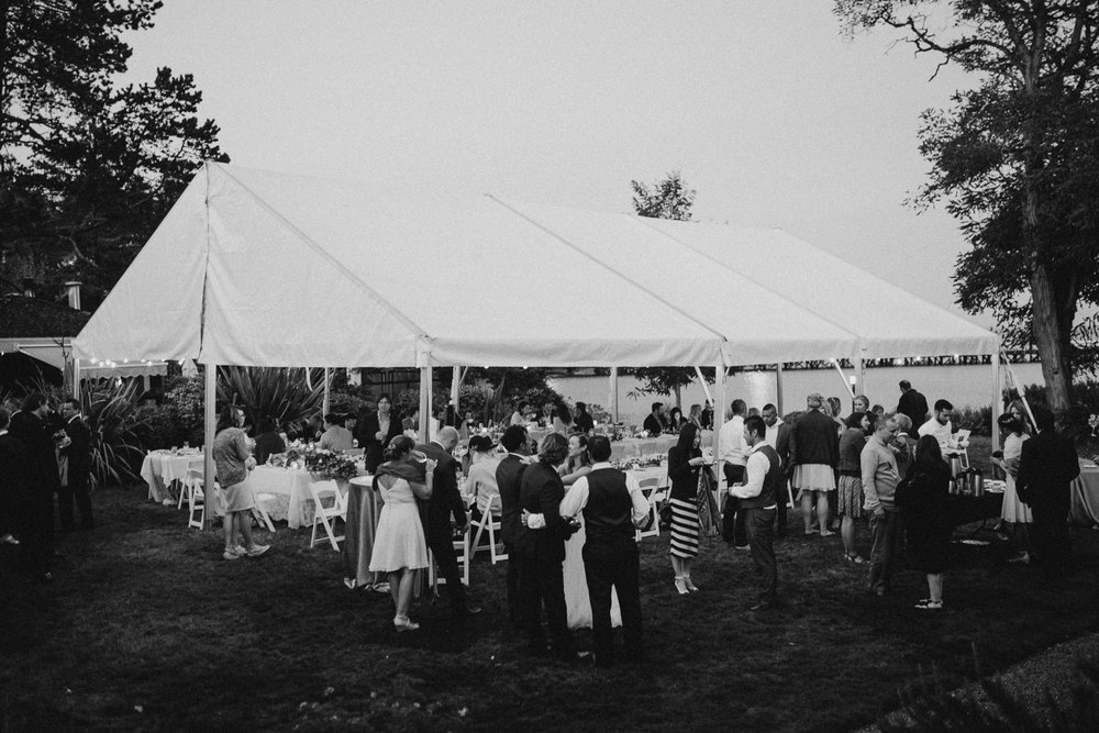 The wedding reception Galiano Inn Wedding