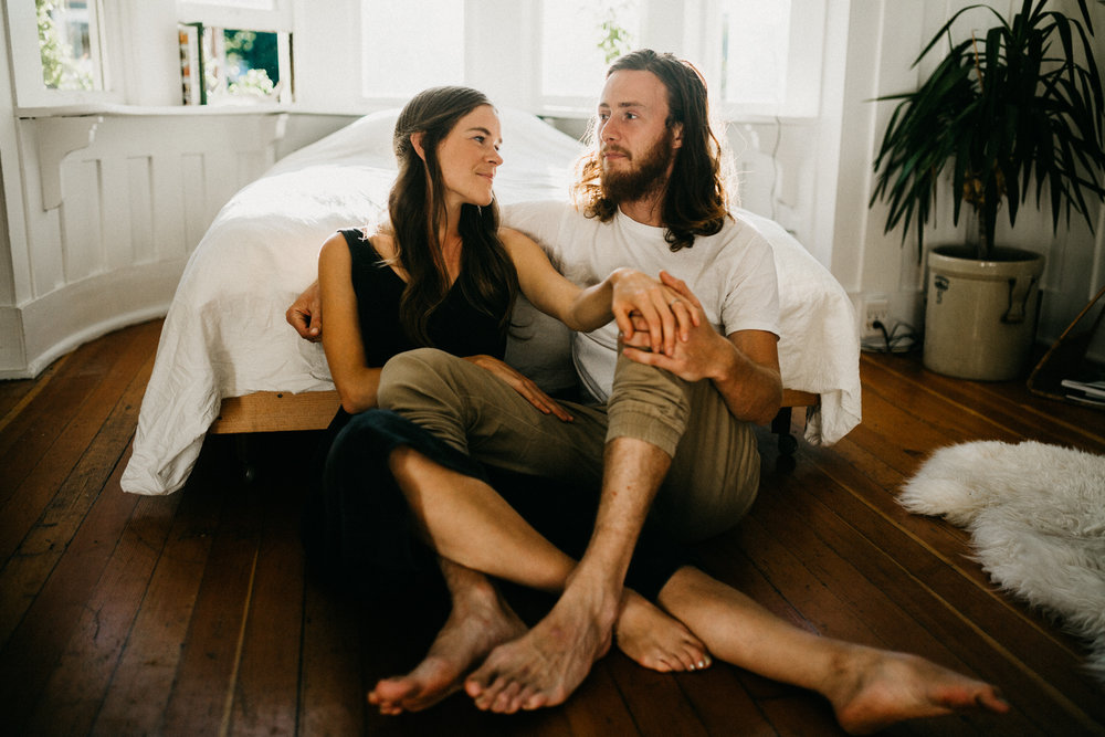 couple spends time in home Victoria wedding photographer