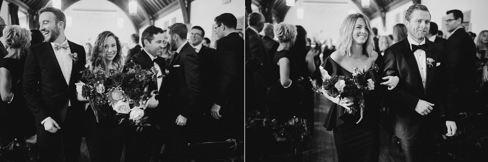 hart house recessional toronto wedding photographer.jpg