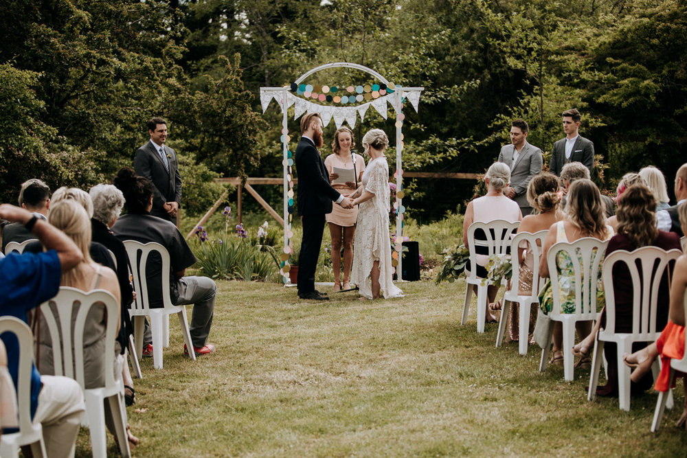 garden ceremony victoria wedding photographer