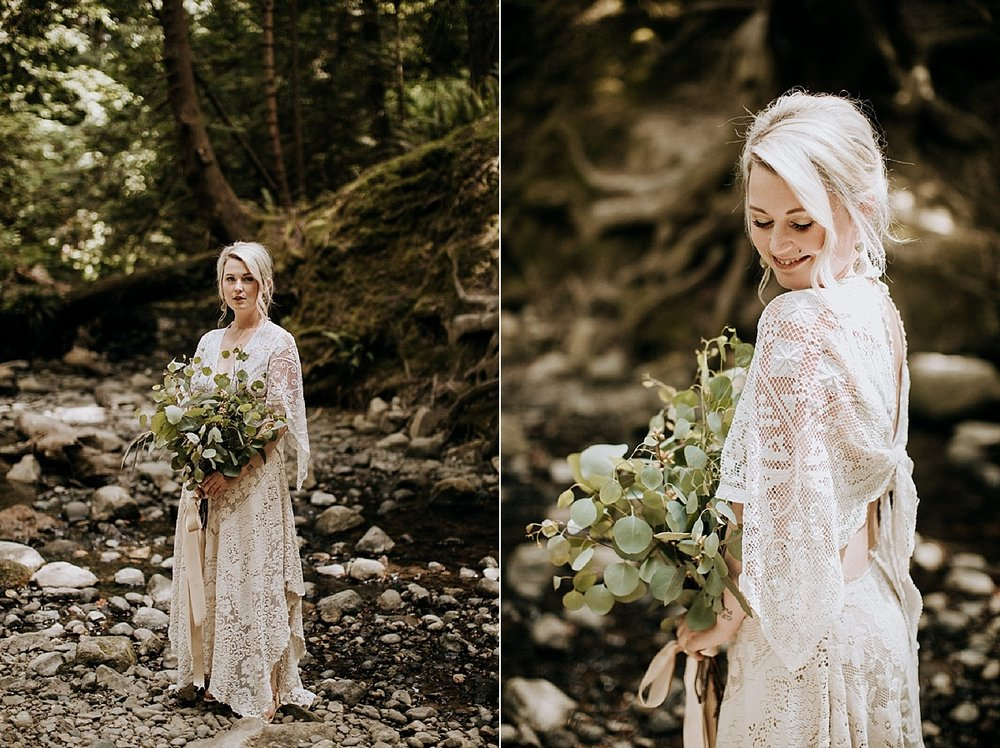 bride is lace wedding dress at victoria wedding photographer