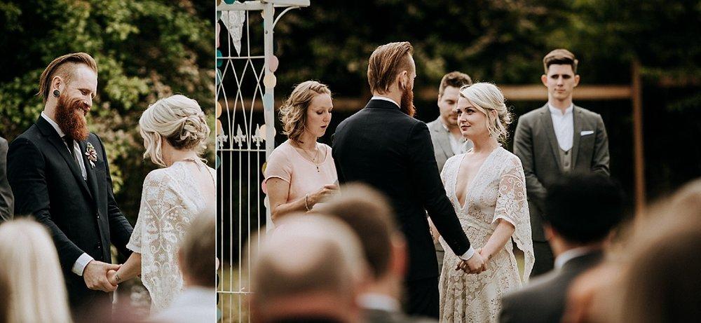 garden wedding ceremony victoria wedding photographer