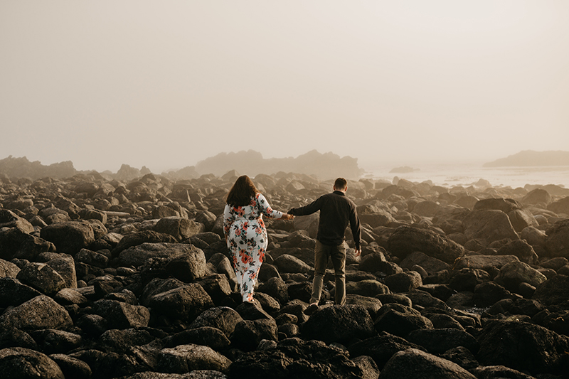 Tofino engagement photographer Big Beach