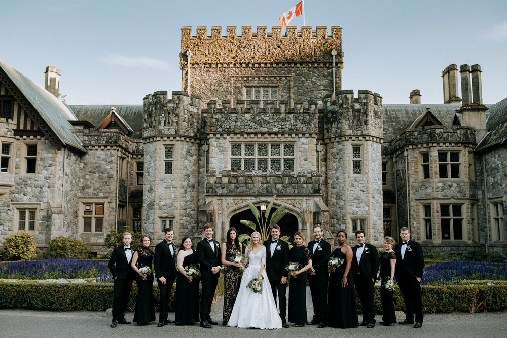 Bridal party at Hatley Castle Wedding Photographer