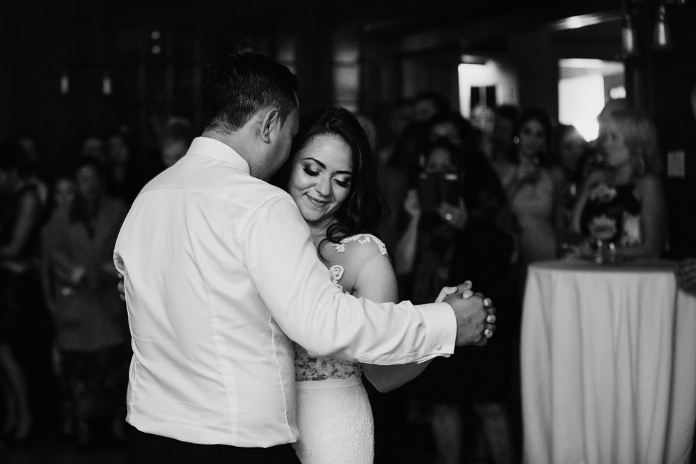 bride and grooms first dance Cecil Green Vancouver Wedding Photographer