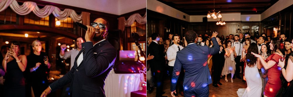 Desmond Denis preforms at Cecil Green Vancouver Wedding Photographer