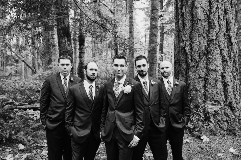 groomsmen Miracle Beach Comox Wedding Photographer