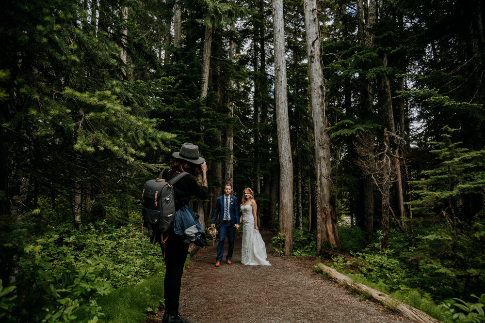 Canadian elopement photographer in mountains