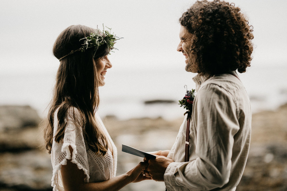 Vancouver Island beach elopement