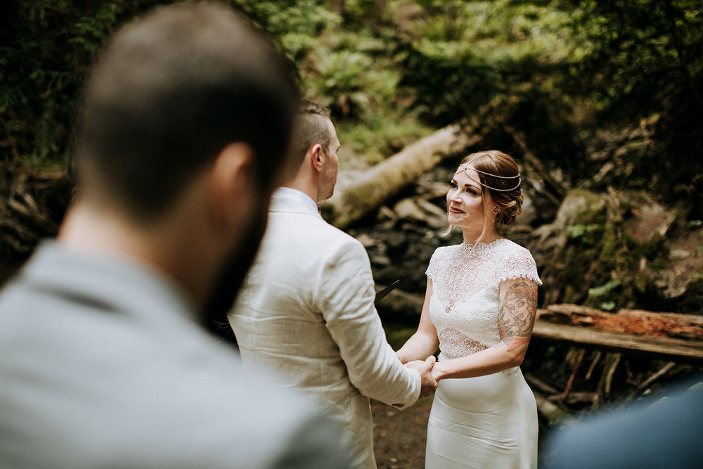 Vancouver Island forest elopement photographer
