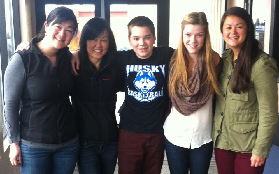 Lindsey, Donna, Desmond, Alyssa, Lauren