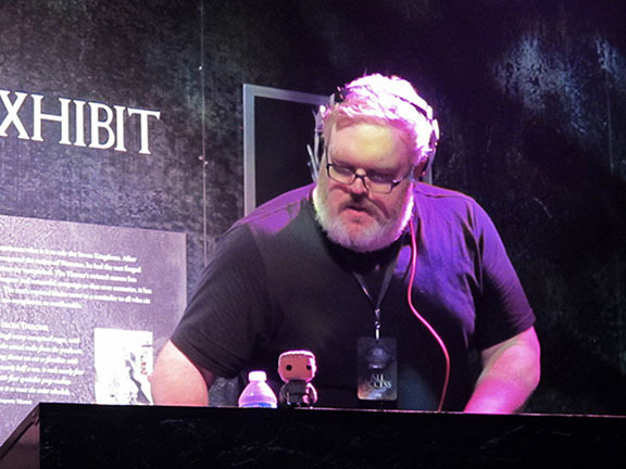 Hodor! Actor and DJ Kristian Nairn spun tunes for partygoers.