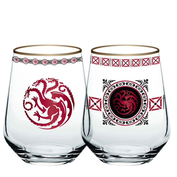 Game of Thrones Targaryen Stemless Wine Glass