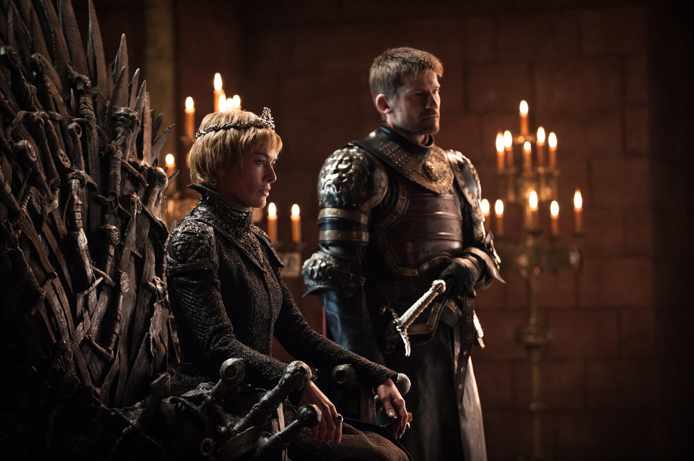 Lena Headey  as Cersei Lannister and  Nikolaj Coster-Waldau  as Jaime Lannister -  Photo: Helen Sloan/HBO