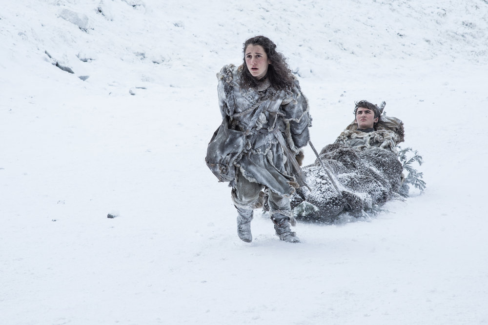 Ellie Kendrick  as Meera Reed and  Isaac Hempstead Wright  as Bran Stark -  Photo: Helen Sloan/HBO