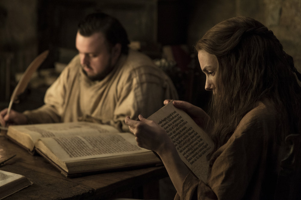 John Bradley  as Samwell Tarly and  Hannah Murray  as Gilly -  Photo: Helen Sloan/HBO