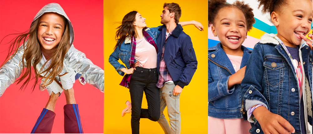 Playful designs for Old Navy Flagship Stores Worldwide. Design and Photo selection for  OLD NAVY.