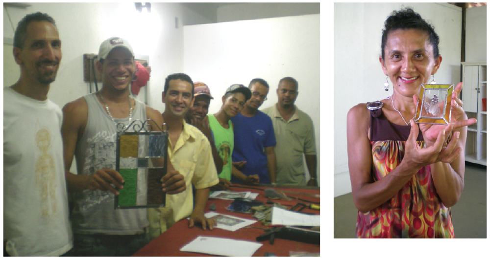 I was initially invited to the Sacatar Foundation for a two month visiting artist residency in 2011, where I taught beginner stained glass classes to the locals