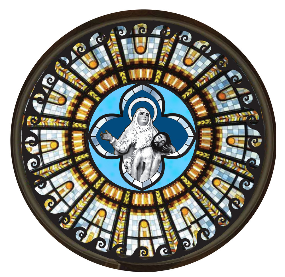 "AUGUST 2017: My approved digital design for ""Return of Nossa Senhora,"" a stained glass window for the Nossa Senhora da Piedade Church in Itaparica, Bahia, Brazil."