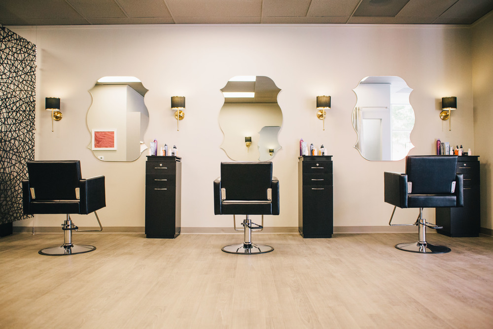 The High End Salon Is Simple And Stylish While Boutique Design Allows Changing Products To Shine